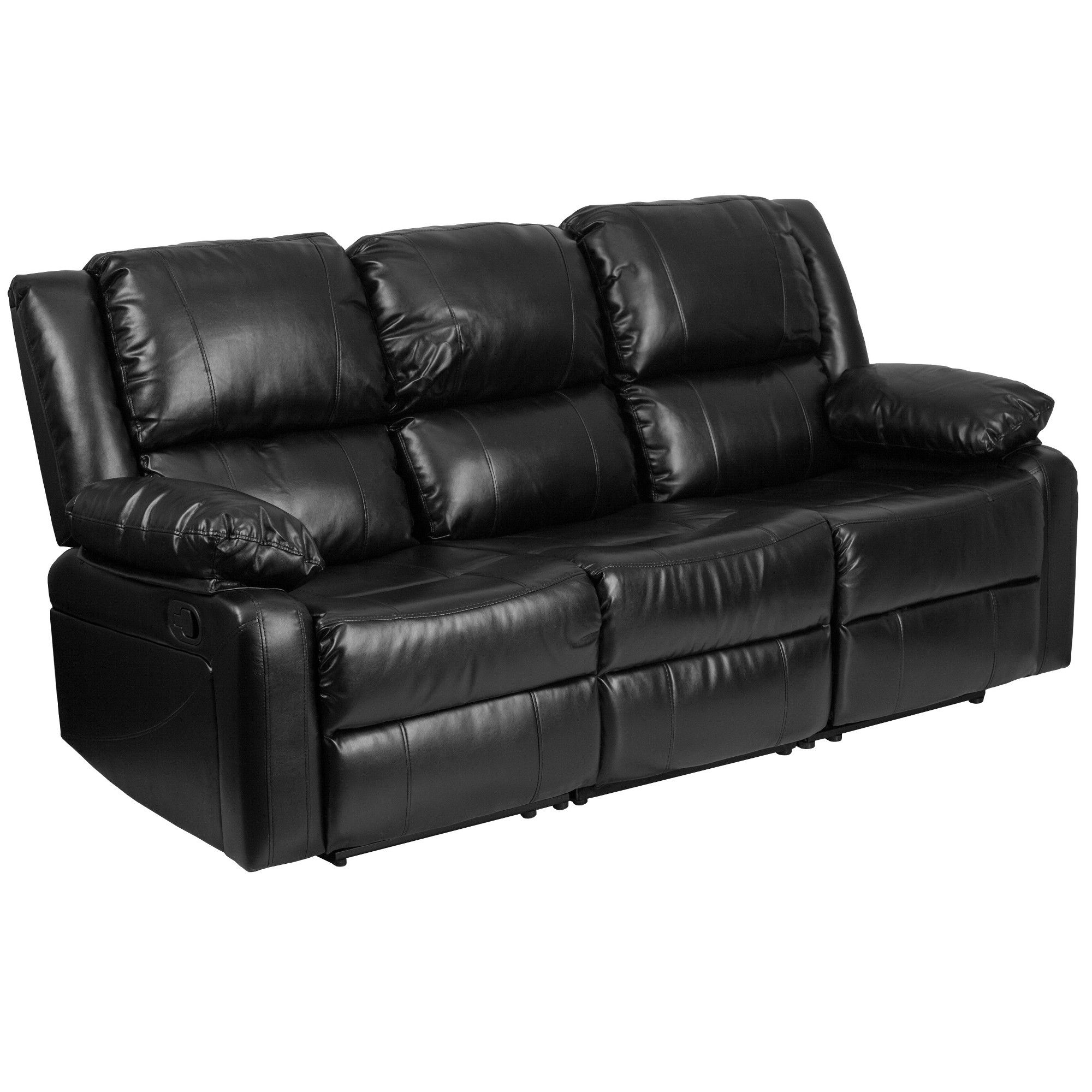 Riverstone Furniture Collection Recliner Sofa Leather Black Black Leather Sofas Leather Reclining Sofa Black Leather Recliner