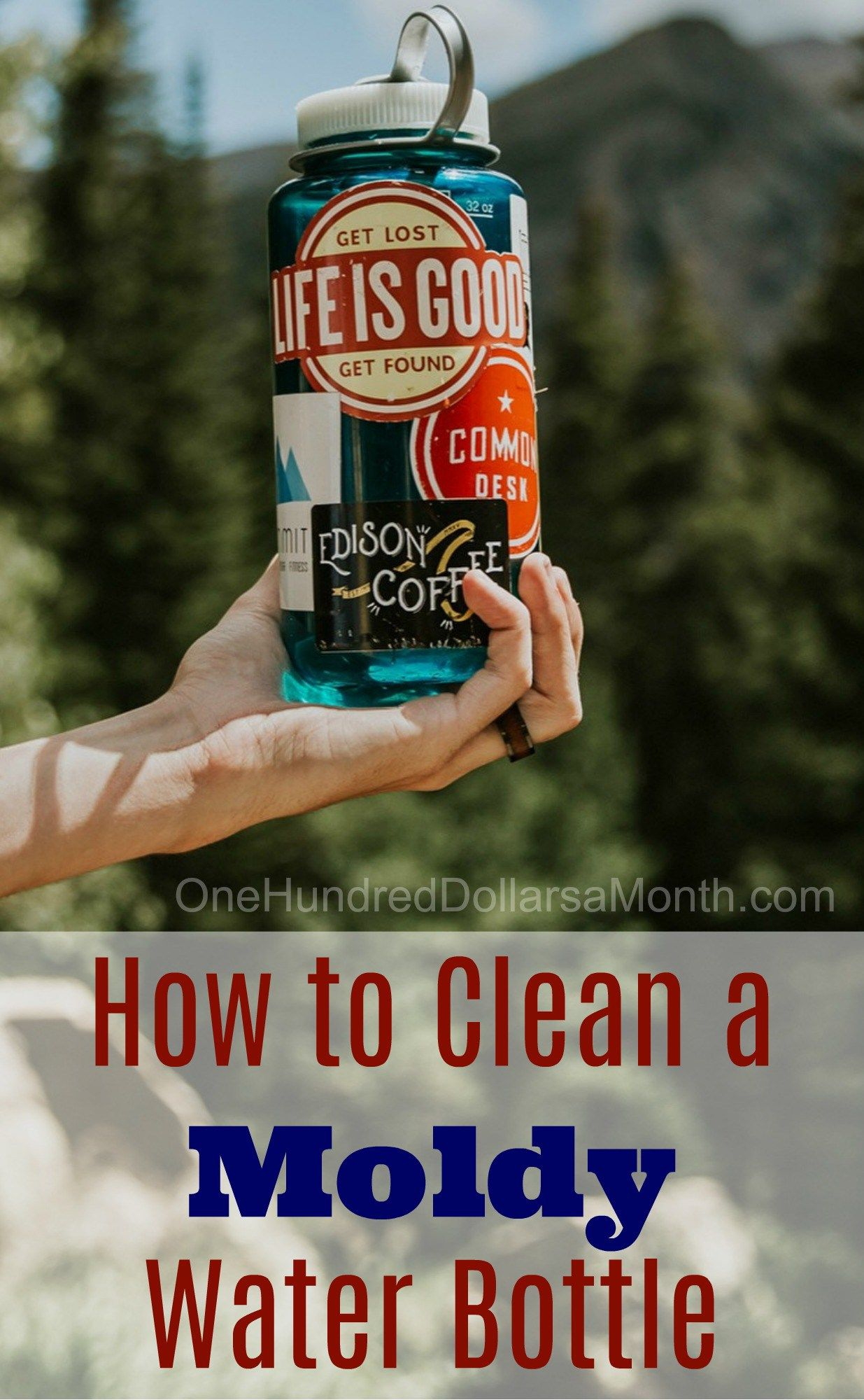 How to clean a moldy water bottle water bottle cleaning