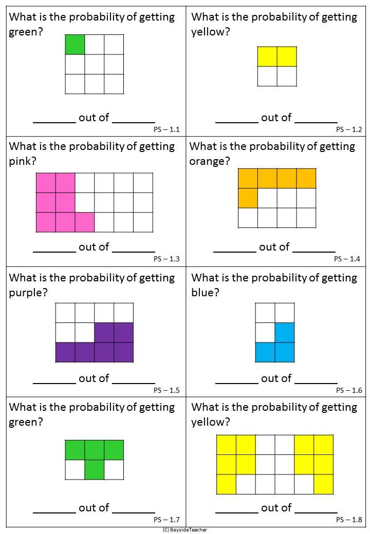 FREE Probability Math Centres Blank word walls and 3 Math Centres