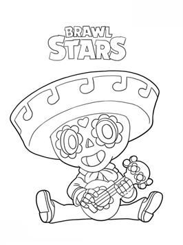Coloring Page Brawl Stars Poco Brawl Stars Imagenes De Dibujos