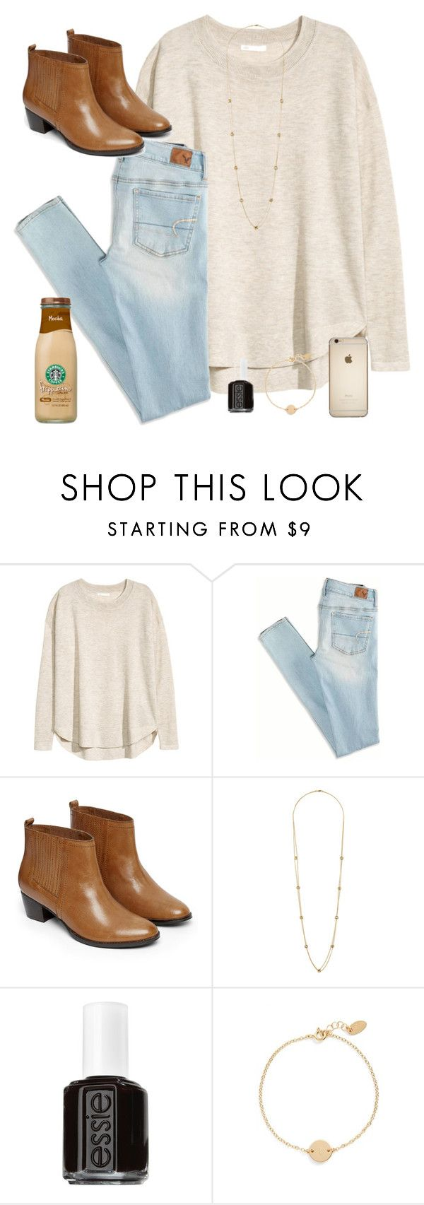 """""""Almost to 600!!"""" by oliveee-heinzzz ❤ liked on Polyvore featuring H&M, American Eagle Outfitters, Warehouse, Wallis, Essie and Nashelle"""