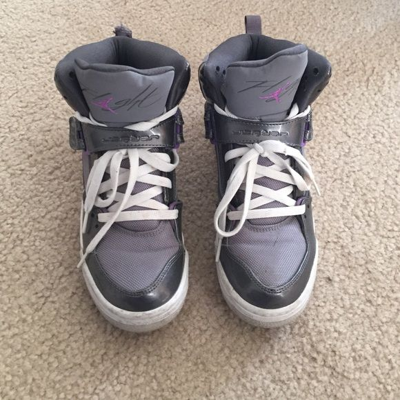 Grey and purple Jordan flights | Womens