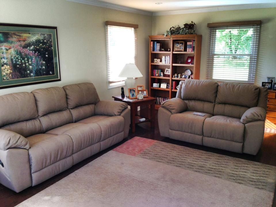Benson Reclining Sofa And Love Seat Done In A Phoenix Fabric. Photo Shared  From Our Friends At Orsini Dining And Leather.