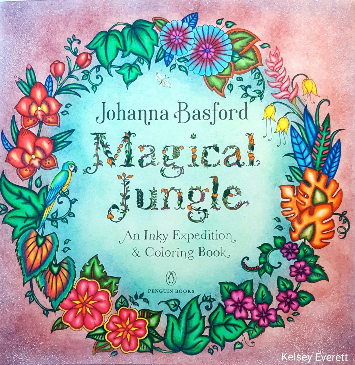 Johanna Basford S Magical Jungle Coloring Book Title Page Colored By Kelsey Everett Basford Coloring Coloring Books Johanna Basford Coloring