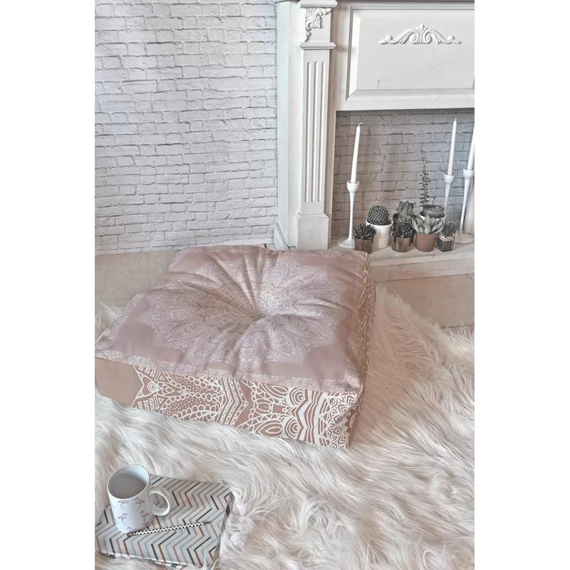 Greyleigh Melbourne Rose Floor Pillow Reviews Wayfair In 2020 Floor Pillows Master Bedroom Comforter Sets Bedroom Comforter Sets