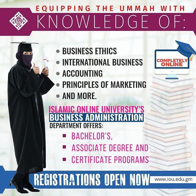 Islamic Online University Presents Programs In Business