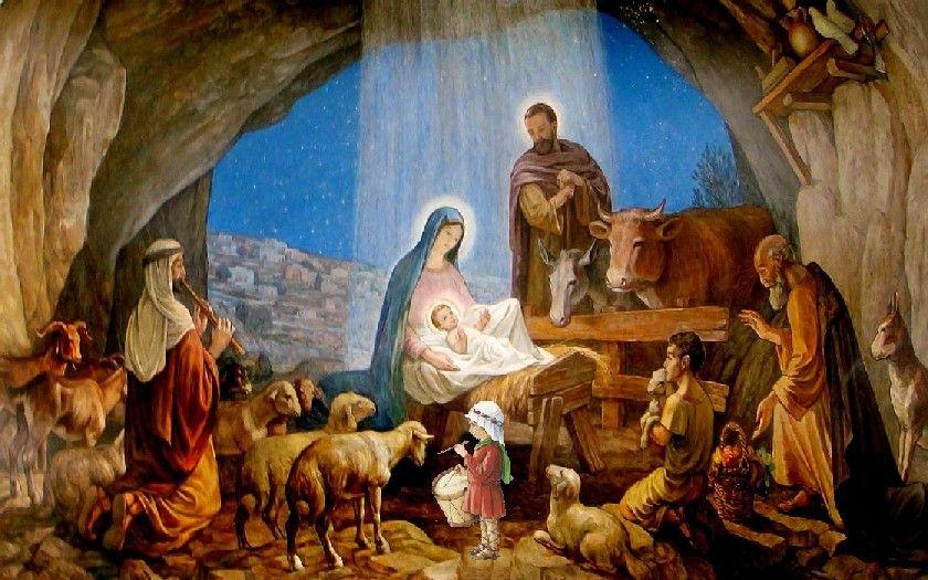 The Birth Of Jesus.. Christmas nativity scene, Christmas