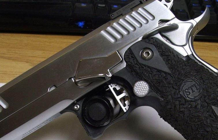 Nitro Fin Thumbrest Nitro, Slide lock, Hand guns