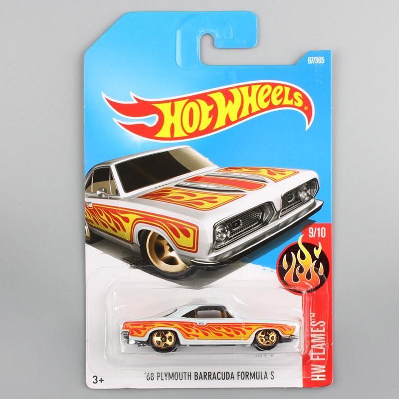 Boys Hotwheels Scale Metal Diecast Flame Old Plymouth Barracuda