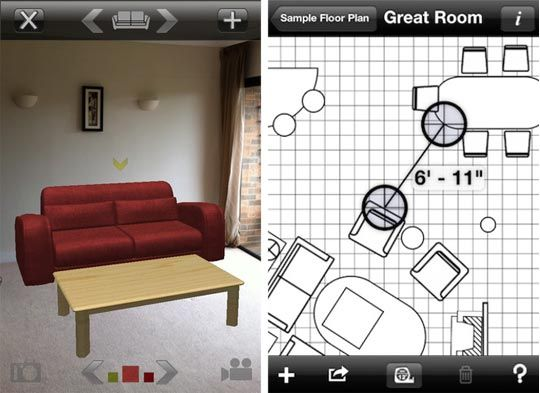 IPhone App   UDecore. Uses Augmented Reality To Let You Place Virtual  Furniture In Your Own Rooms   Wow!