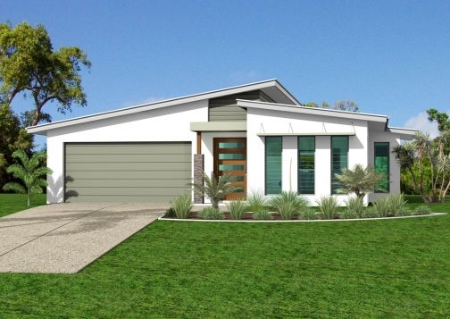Pacific Homes Mackay Error Facade House Skillion Roof House Roof Design