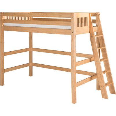 Camaflexi Twin Loft Bed Finish: Natural