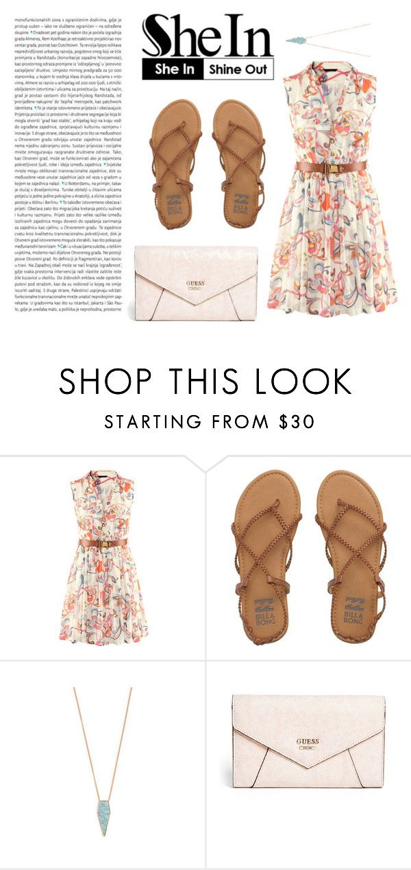 """WIN SHEIN $30 COUPON"" by anisimova-i ❤ liked on Polyvore featuring Billabong, GUESS and Oris"