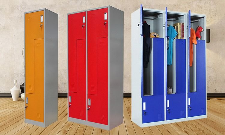 Z Shape Metal Locker Metal Lockers Furniture Office Furniture