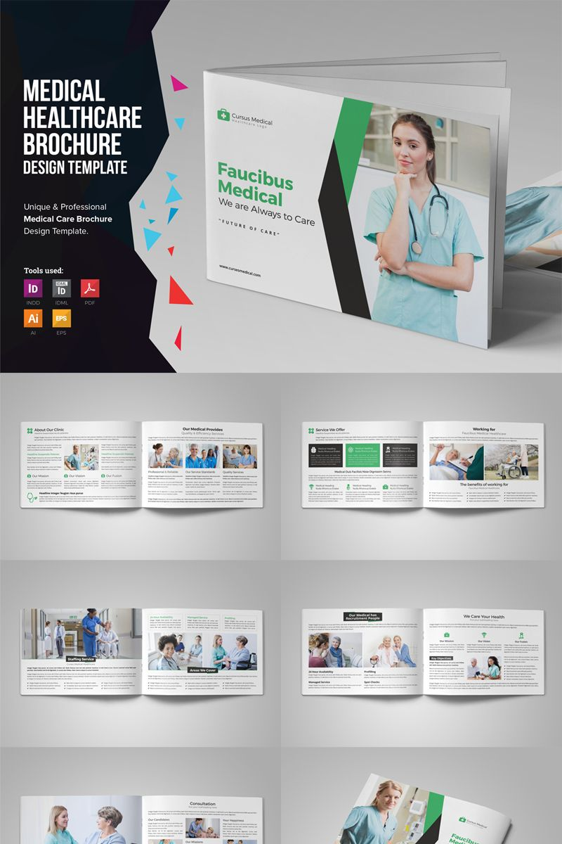 Medina Medical HealthCare Brochure Corporate Identity