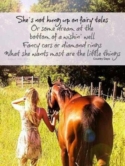 What country girls want. . . . the simple things in life