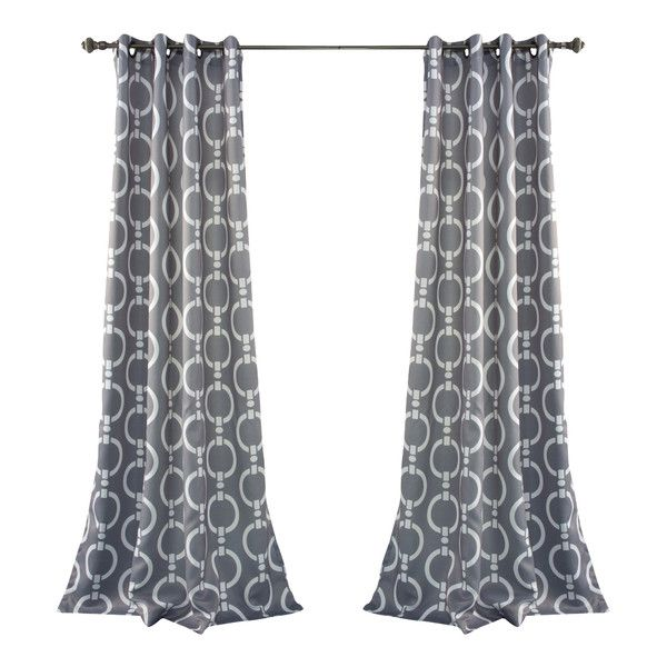 Chain Link Pattern Curtains Drapes Curtains Grommet Curtains