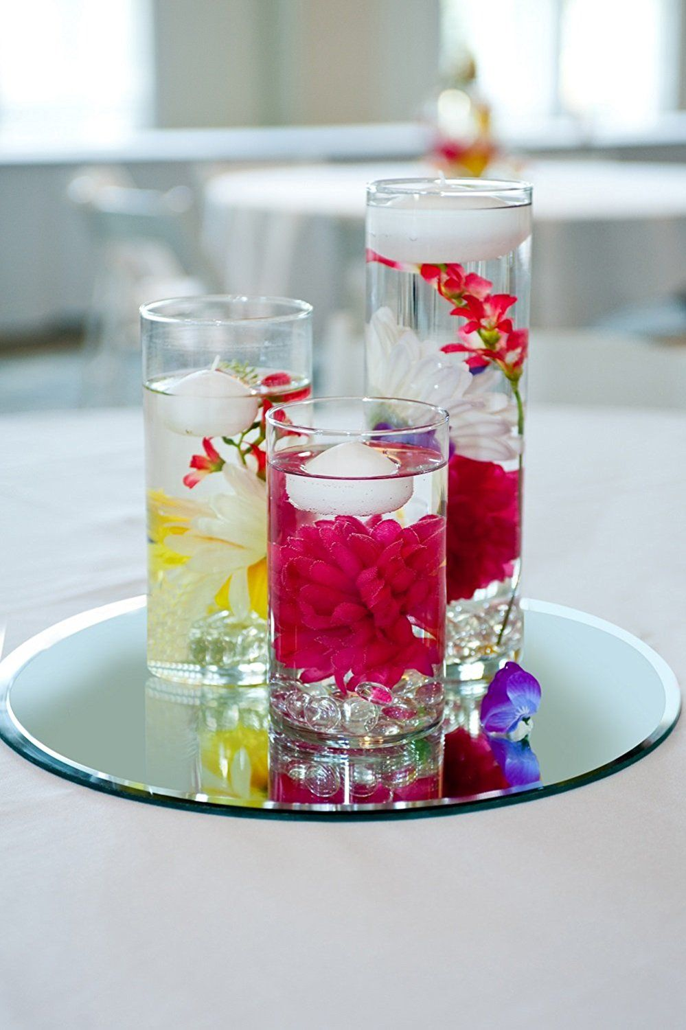 Amazon spring rosetm beautiful cylinder vasesset of 3 amazon spring rosetm beautiful cylinder vasesset of 3 floating candle centerpiecescenterpiece floridaeventfo Gallery