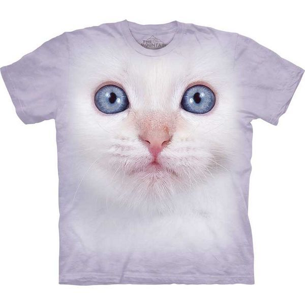 The Mountain Kitten T-shirt | White Kitten Face