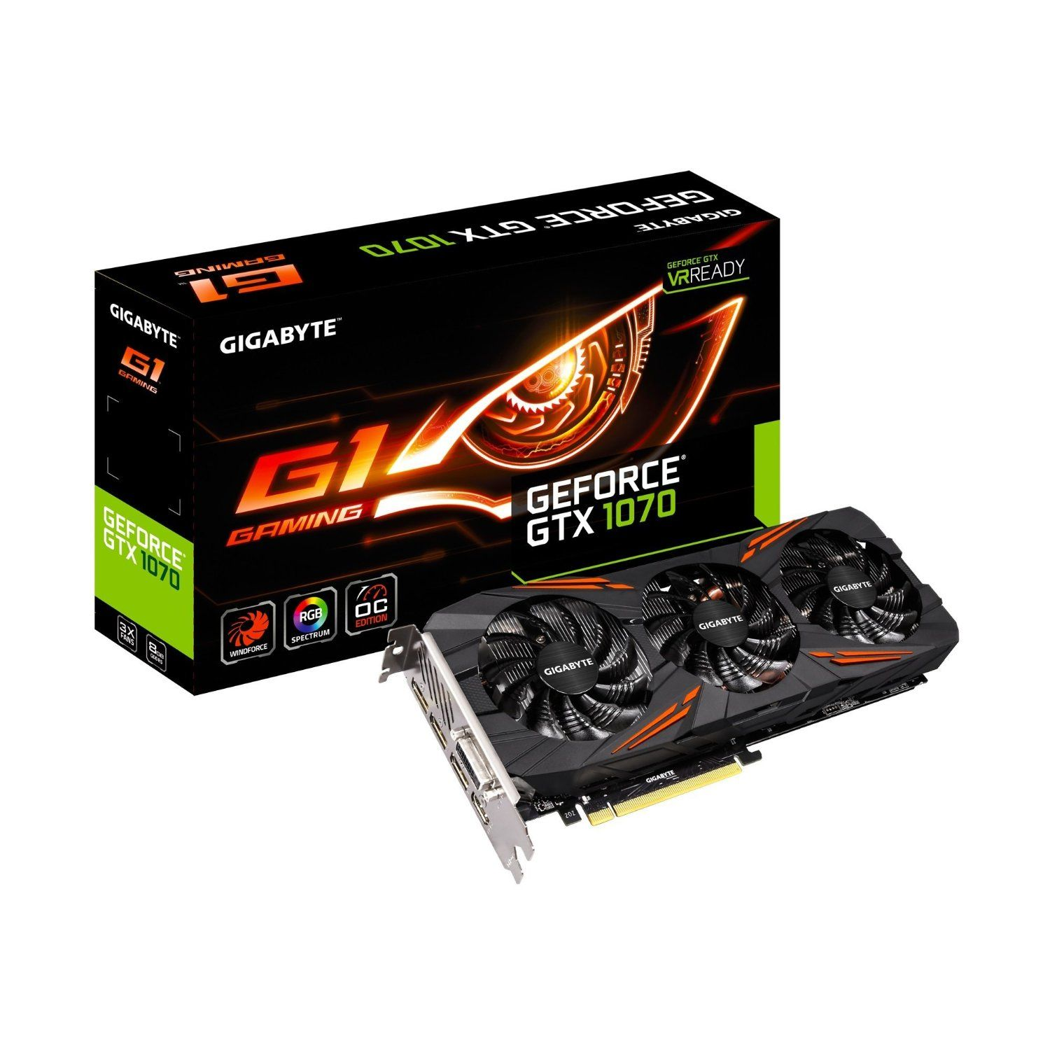 Gigabyte Geforce Gtx 1070 G1 Gaming Video Graphics Cards Gv