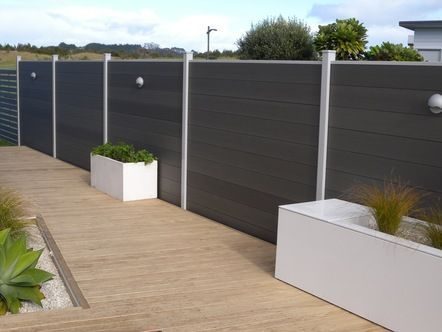 WOOD PLASTIC COMPOSITE (WPC) FENCE/FENCING, Size 152mm Width
