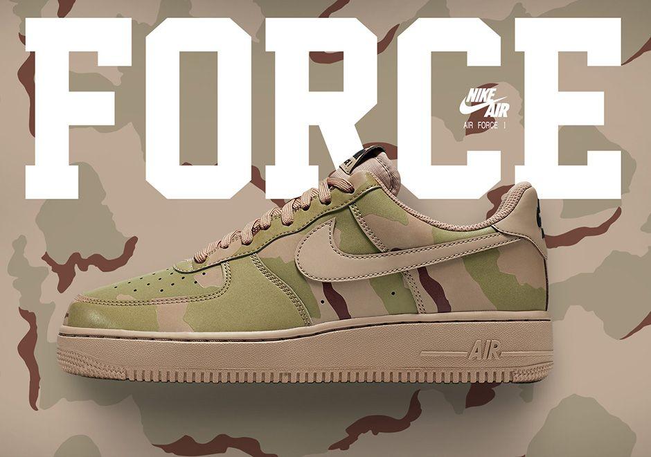 Nike Air Force 1 Reflective Desert Camo 718152 204 Nike Air