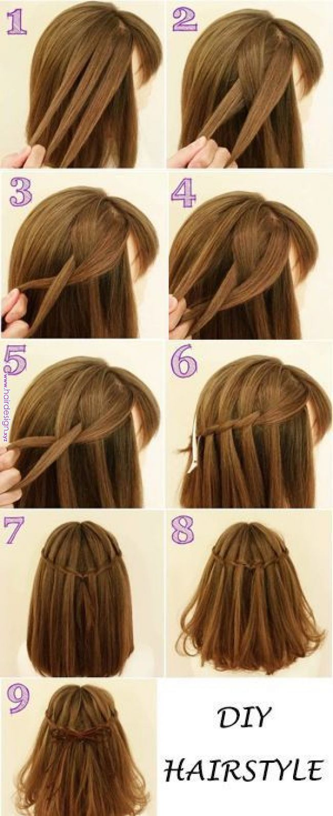 DIY haristyle. You can try  Easy daily hairstyle in 10