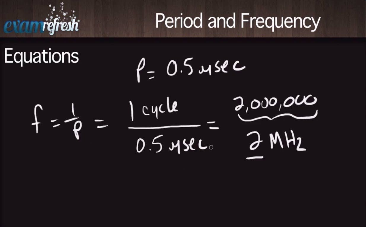 Period and Frequency Equations - SPI Ultrasound physics