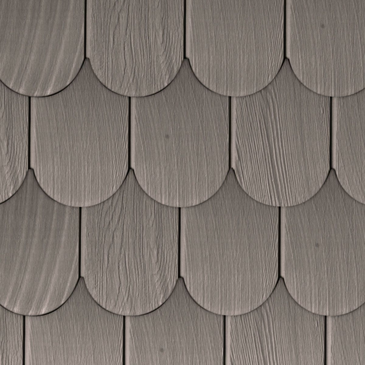 6 Inch W X 60 Inch L Exposure Vinyl Round Shingles 20 Panels Ctn 50 Sq Feet 242 Shale Vinyl Shake Siding Vinyl Siding Shingling