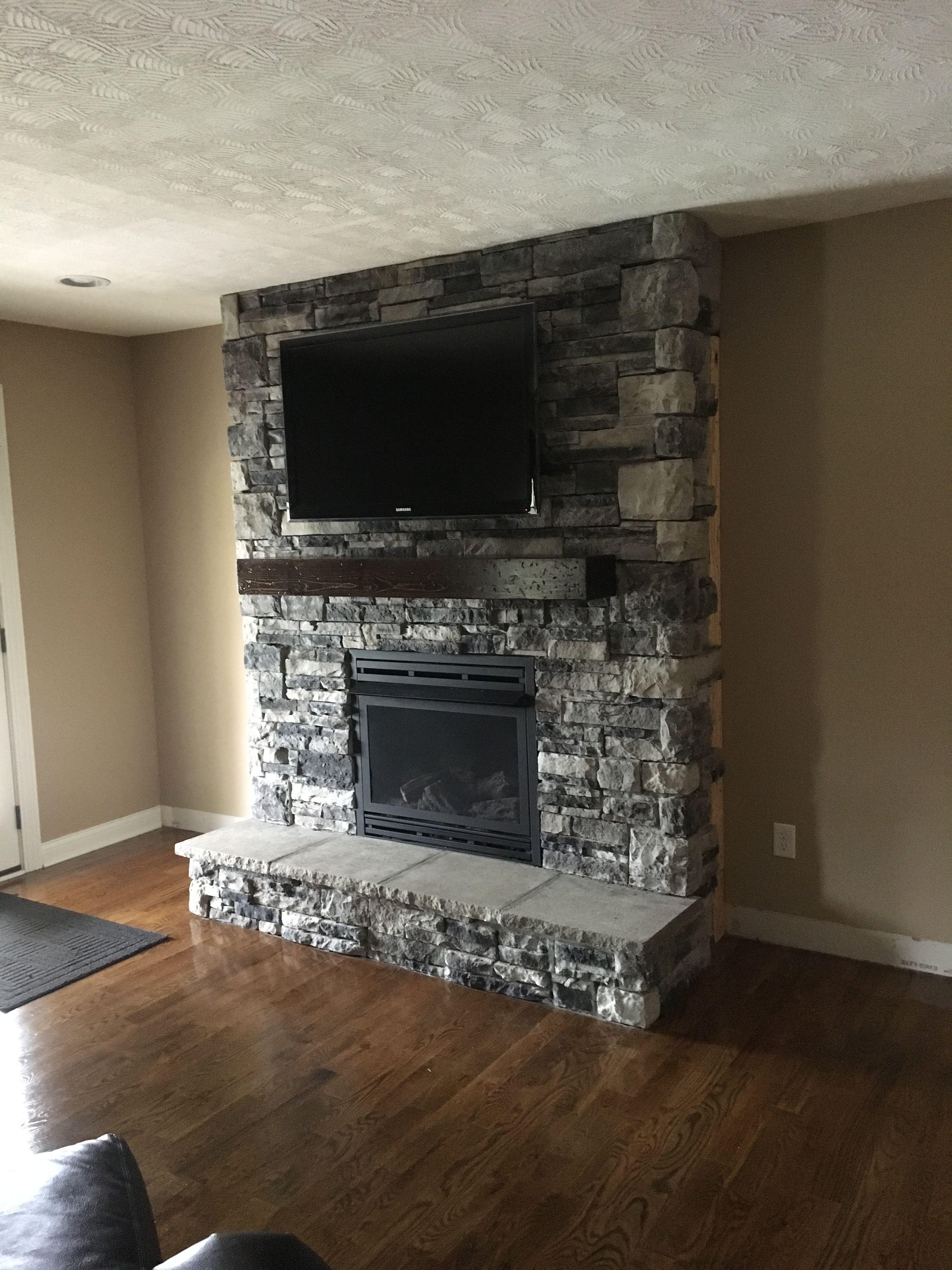 Dyi Mountain Stone Fireplace W Natural Gas Ventless Logs Fireplace Remodel Fireplace Gas Fireplace Logs