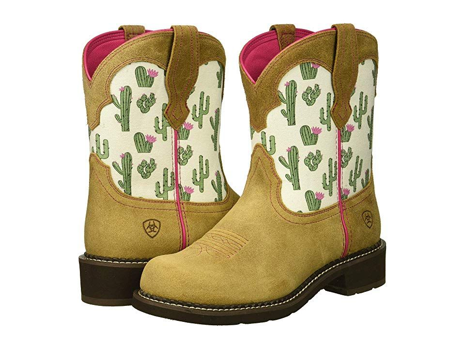 0c9e6a258d1 Ariat Fatbaby Heritage Twill (Sandstone/Cactus Print) Cowboy Boots ...
