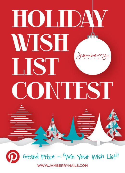 Jamberry Nails Pinterest Contest- Win Your Holiday Wish List!     #PinterestContest #HolidayWishList #Jamberry Nails