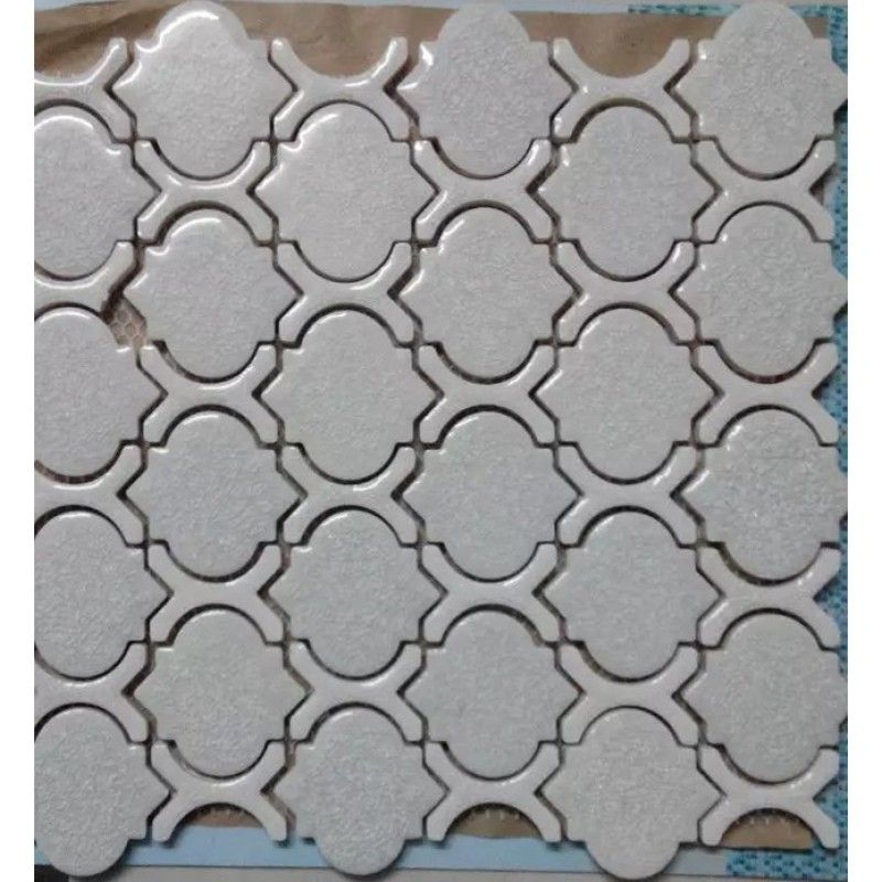 Cheap Porcelain Floor Tiles Arabesque Art Ceramic Mosaic Bathroom