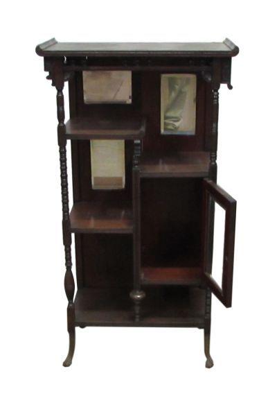 Antique Bookshelf With Claw Legs