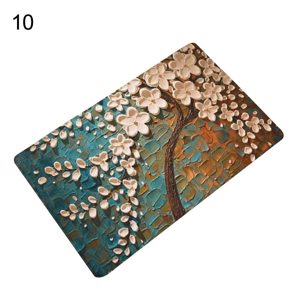 Photo of Kitchen Bathroom Floral Tree Painting Print Anti-Slip Mat Area Rug Home Decor – as the picture c