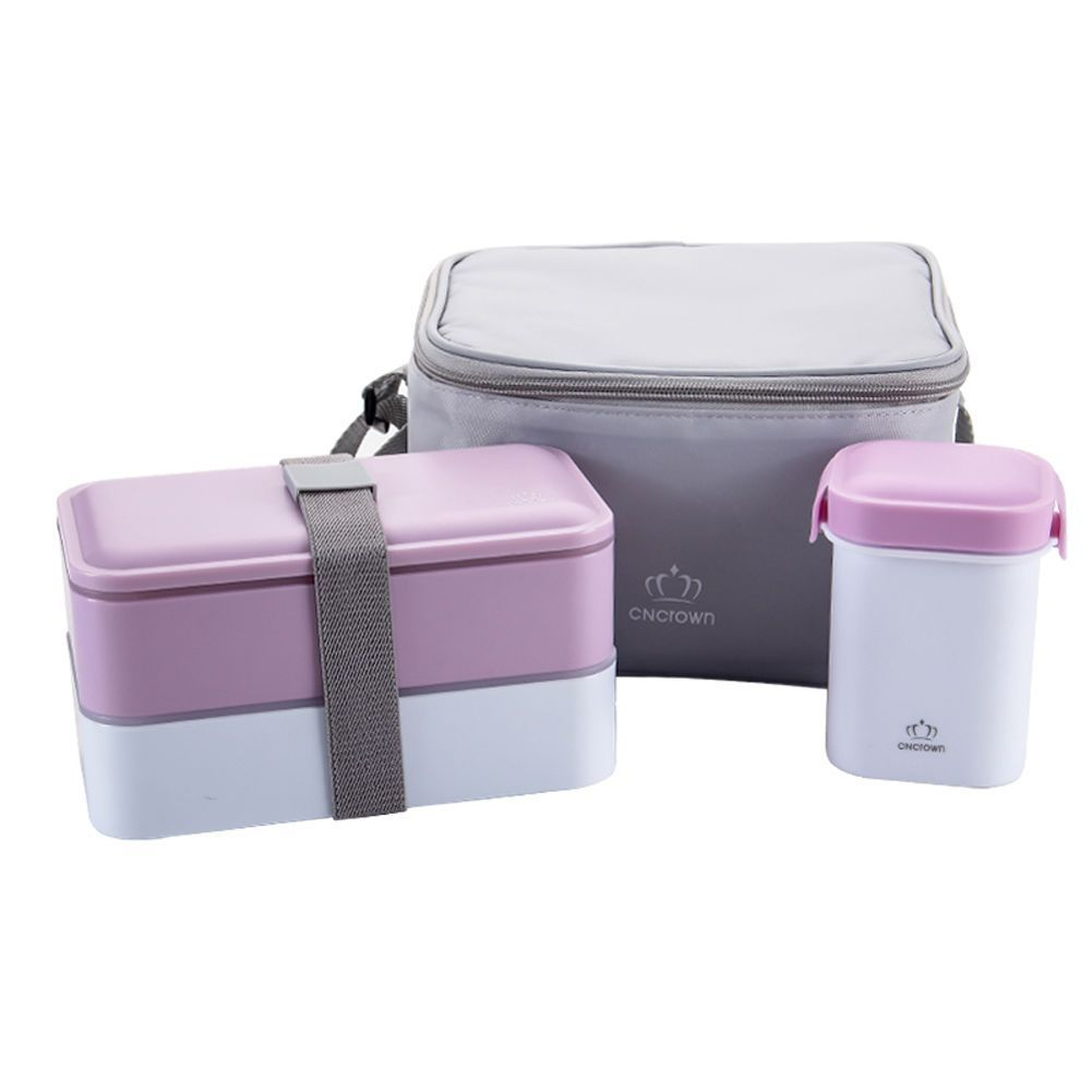 Japanese Bento Lunch Box Set Water Soup Mug Insulated Lunch Tote Bag For Adults