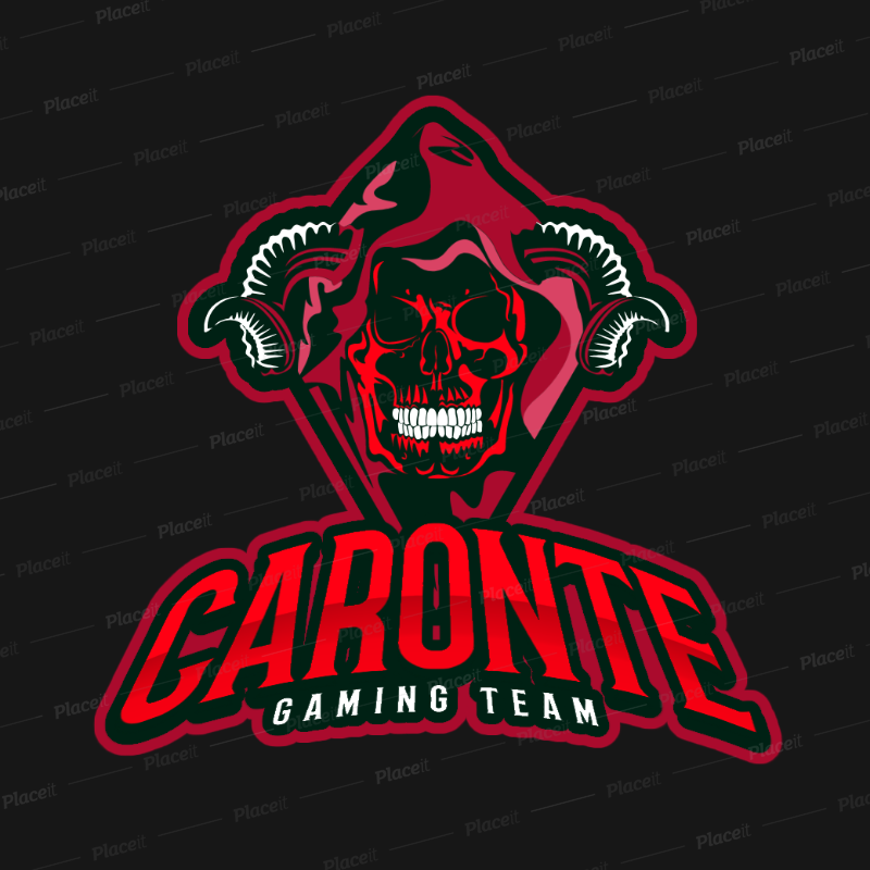 Placeit Gaming Logo Template Featuring an Evil Horned