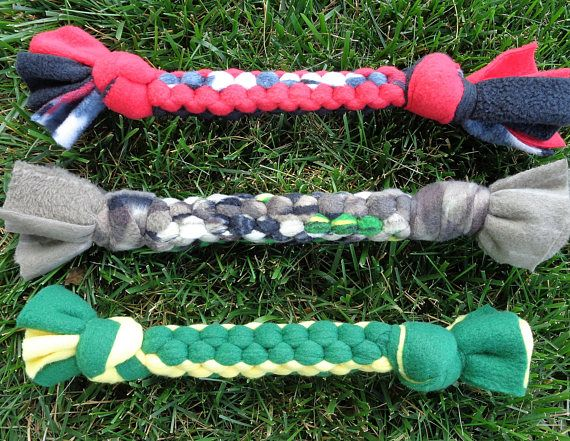 Three Dog Tug Toys Knotted Pull Toy Durable Best Interactive