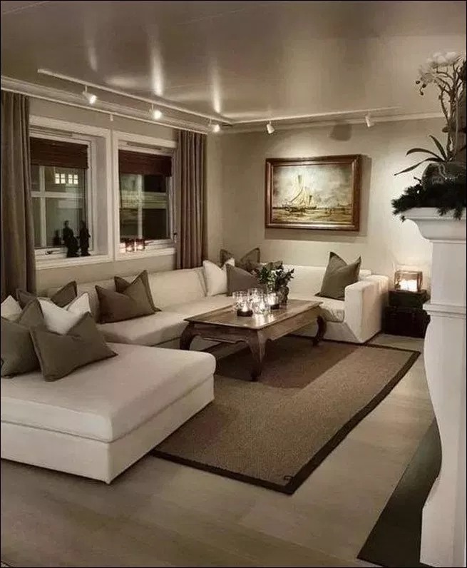 30 Simple And Beautiful Backyard Landscaping Ideas For Beautify Your Garden Couponxcode Info Beige Living Rooms Elegant Living Room Small Living Room Decor