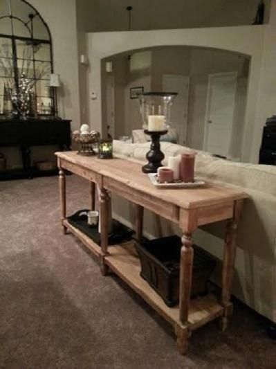 Everett Foyer Table Natural Wood By World Market Farmhouse Sofa Table Home Living Room Table Behind Couch