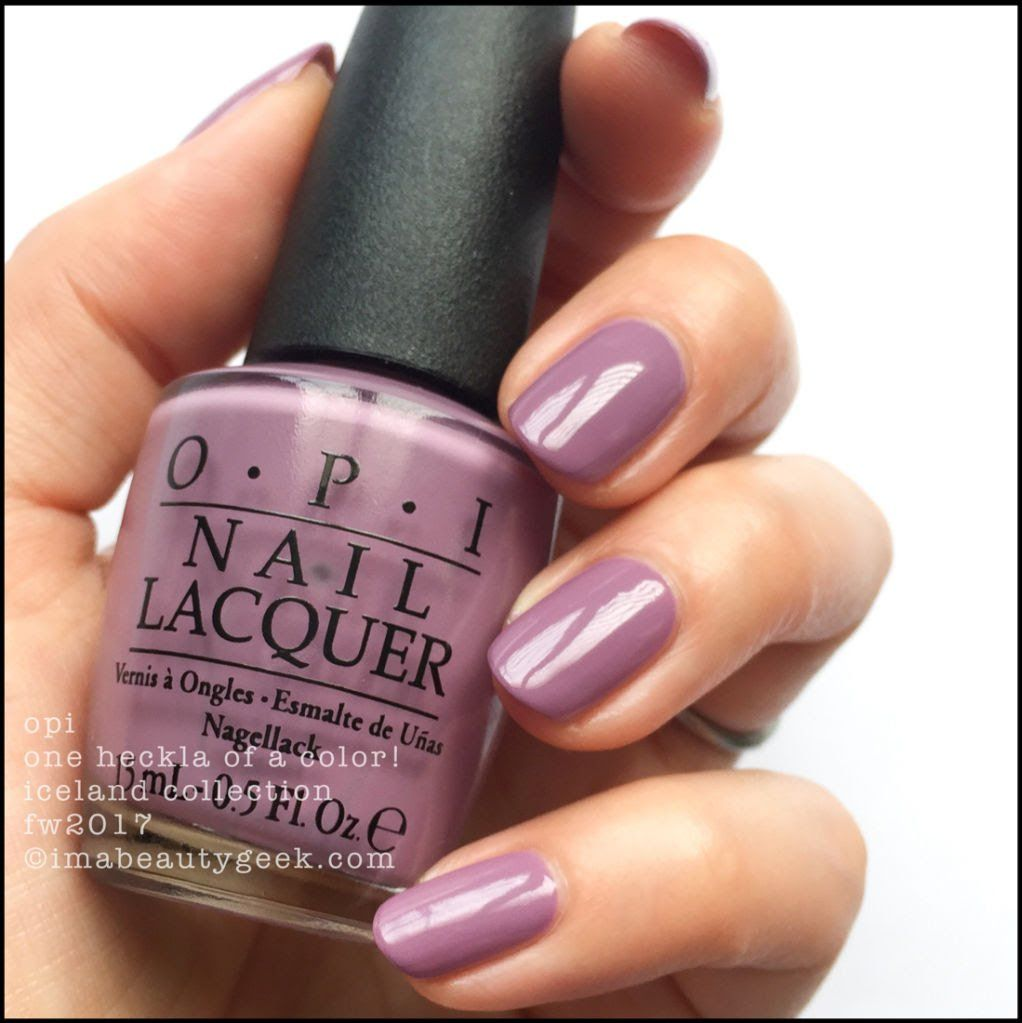 OPI ICELAND SWATCHES & REVIEW FW 2017 COLLECTION | OPI, Iceland and ...