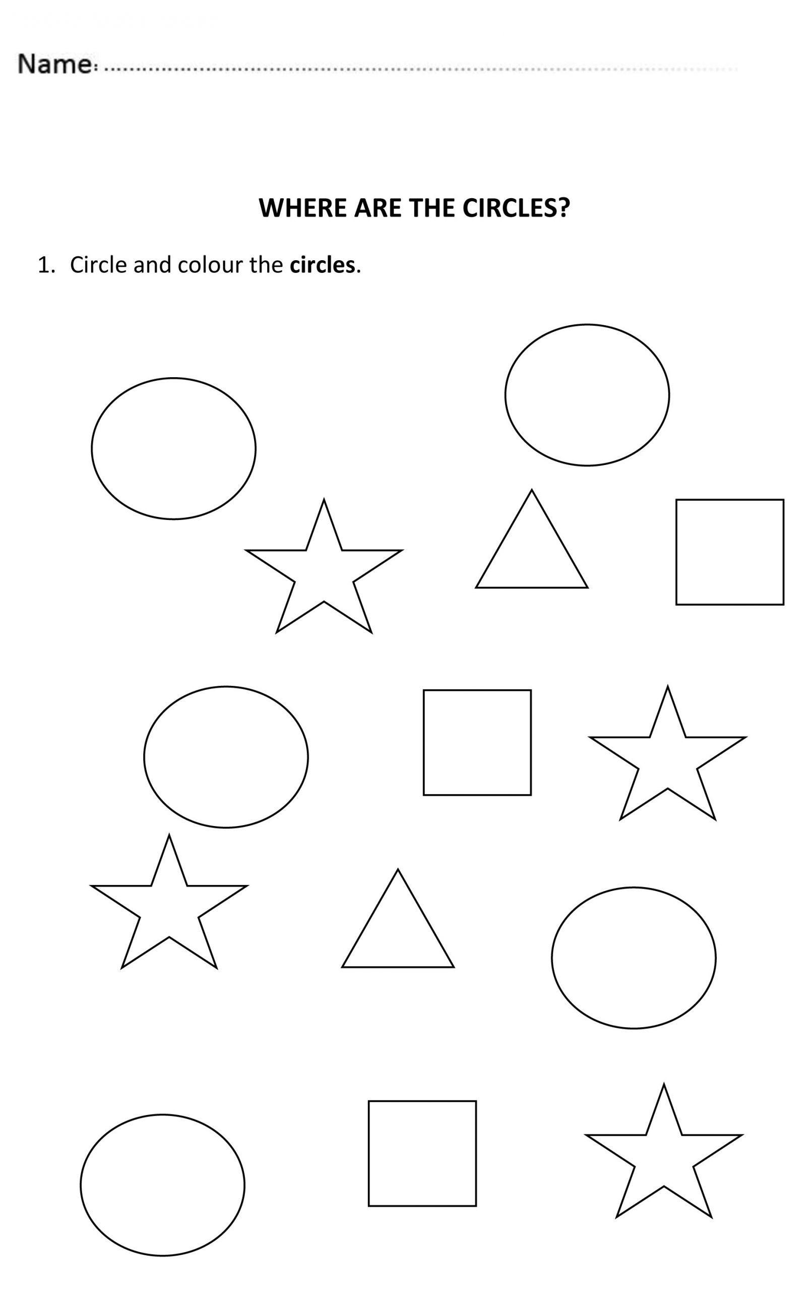 2 Kindergarten Worksheets Shapes