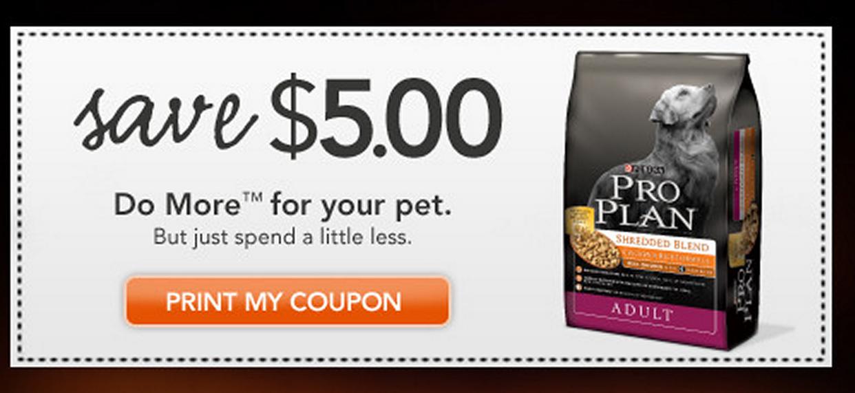 Purina Pro Plan Coupon Pro Plan Dog Food Dog Food Recipes