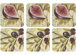 Pimpernel Figs & Olives Coasters