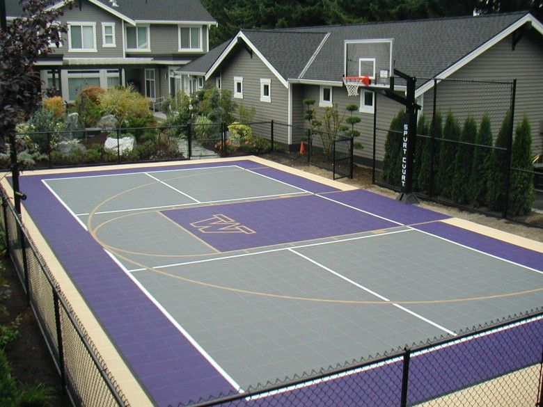 This backyard Sport Court is a beauty! http://www ...