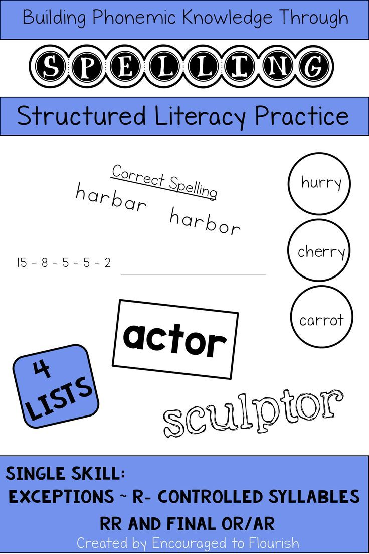 Spelling RControlled EXCEPTIONS Games and Activities in
