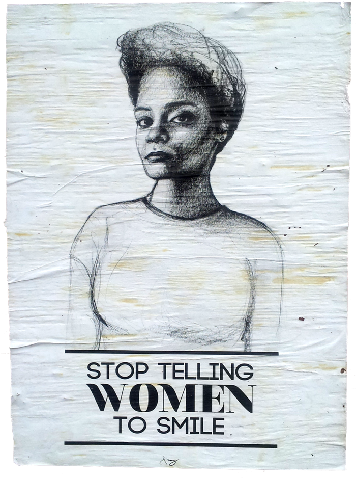 Stop Telling Women to Smile Hits Oakland - The Bold Italic - San Francisco http://www.thebolditalic.com/articles/4559-stop-telling-women-to-smile-hits-oakland