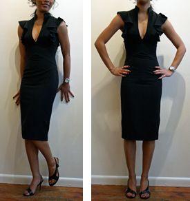Ruffle Neck dress by Black Halo | Dresses | Pinterest | Halo ...