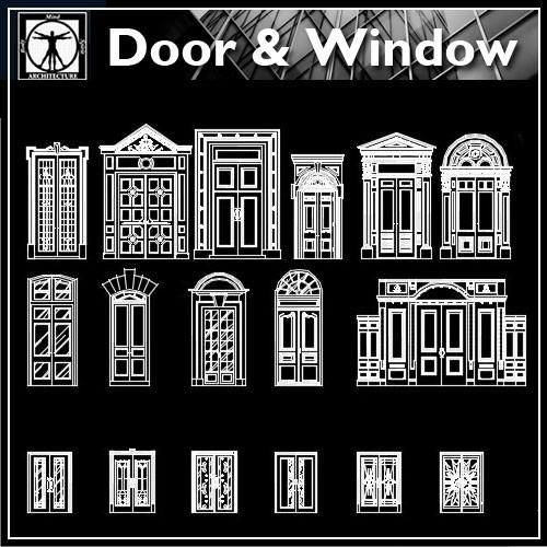 Best door design ideas cad design download cad for Door design autocad