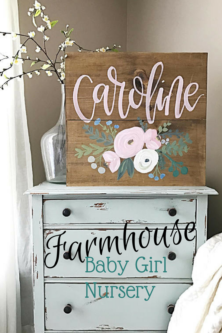 Custom Baby girl name sign, so pretty! #nursery #girl #baby